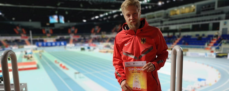 René Brune Top Ten bei Hallen-WM